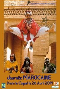 Affiche Journée marocaine avec danseur - petit