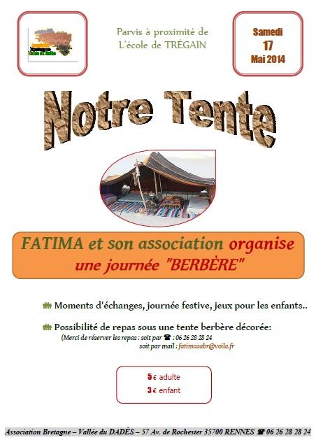Affiche journée berbère - Mai 2014 (école Trégain)